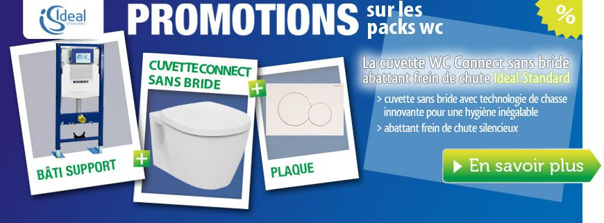 Pack WC 3 en 1 cuvette Connect sans bride