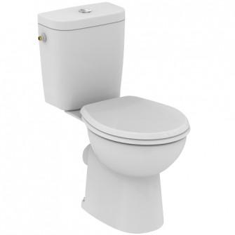 Pack WC au sol complet prêt à poser frein de chute Hercule Ideal Standard
