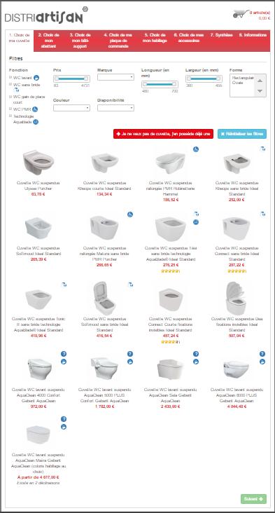 etape 1 choix wc