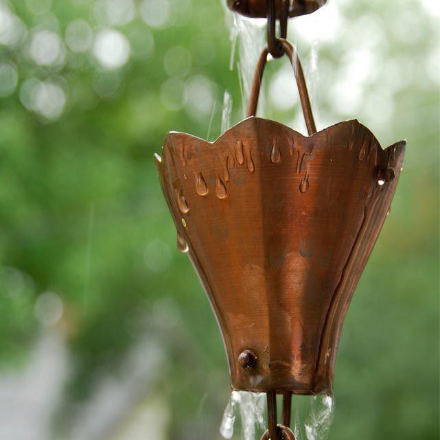 chaine de pluie cuivre