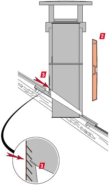 5ème étape pose de sortie de toit