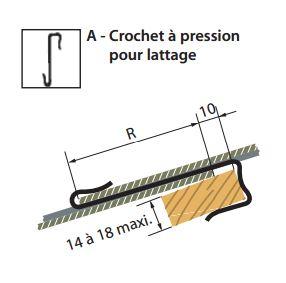 Crochet à pointe pour latage pose tuiles ardoise