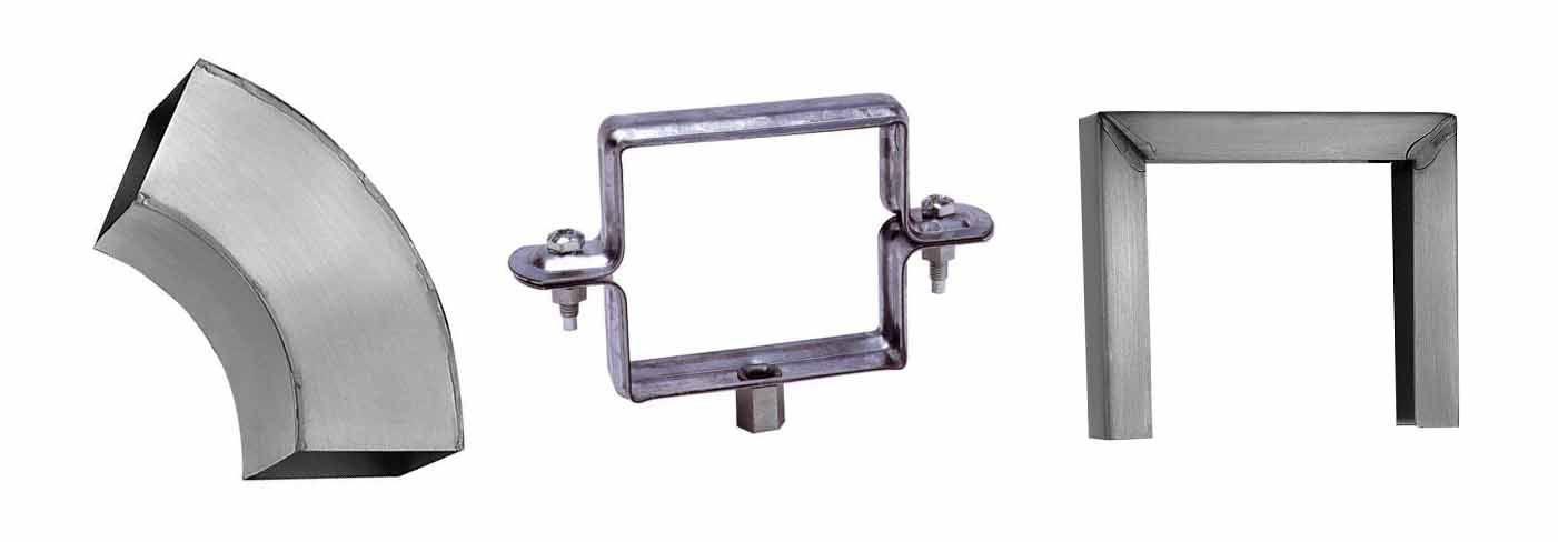 coude fixation bague carré zinc