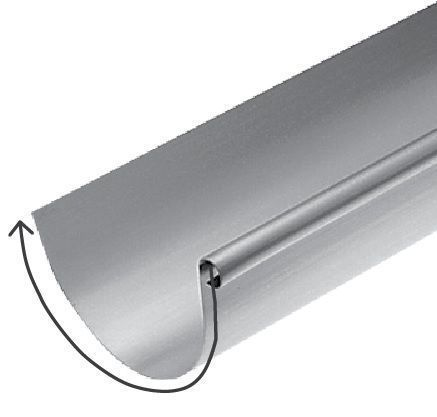 développement gouttière zinc