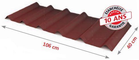 Tuiles pour toiture de garage, loggias ou abri de jardin