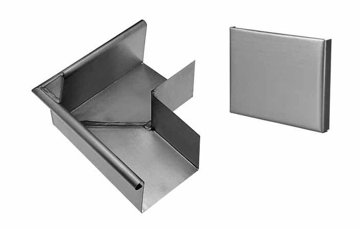 équerre et talon gouttière zinc carré