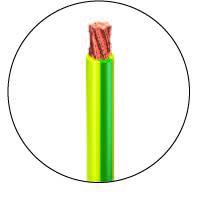 fil électrique jaune et vert