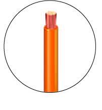 fil électrique orange