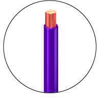fil électrique violet
