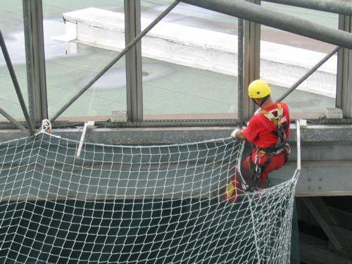 Filet échafaudage anti-chutes