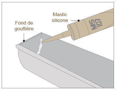 schéma mastic silicone gouttière zinc