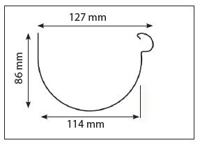 Schéma gouttière aluminium demi-ronde