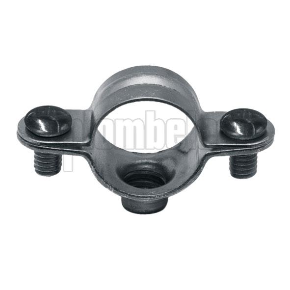 Collier atlas simple de plomberie en acier zingu plombelec dimensions filet et tube au choix - Collier de fixation plomberie ...