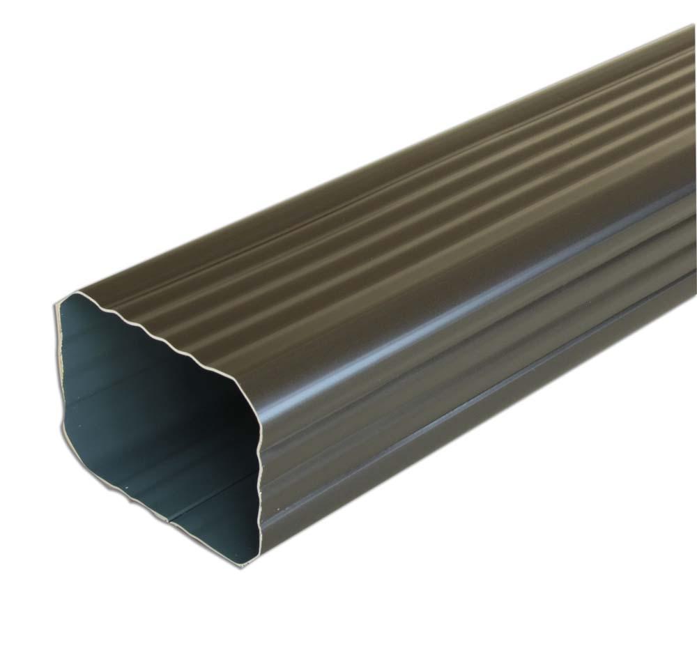 tube de descente 2m aluminium rectangulaire 60x80mm. Black Bedroom Furniture Sets. Home Design Ideas