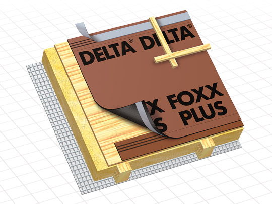 ecran de sous toiture hpv delta foxx plus doerken 50mx1. Black Bedroom Furniture Sets. Home Design Ideas