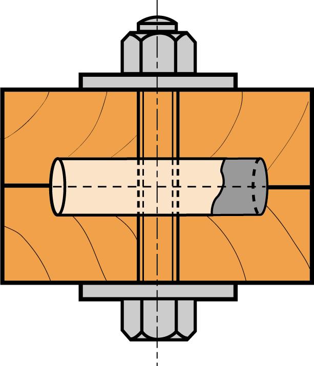 Anneaux de charpente dimensions au choix Anneaux de charpente Connexions pour assemblage  # Technique Assemblage Charpente Bois