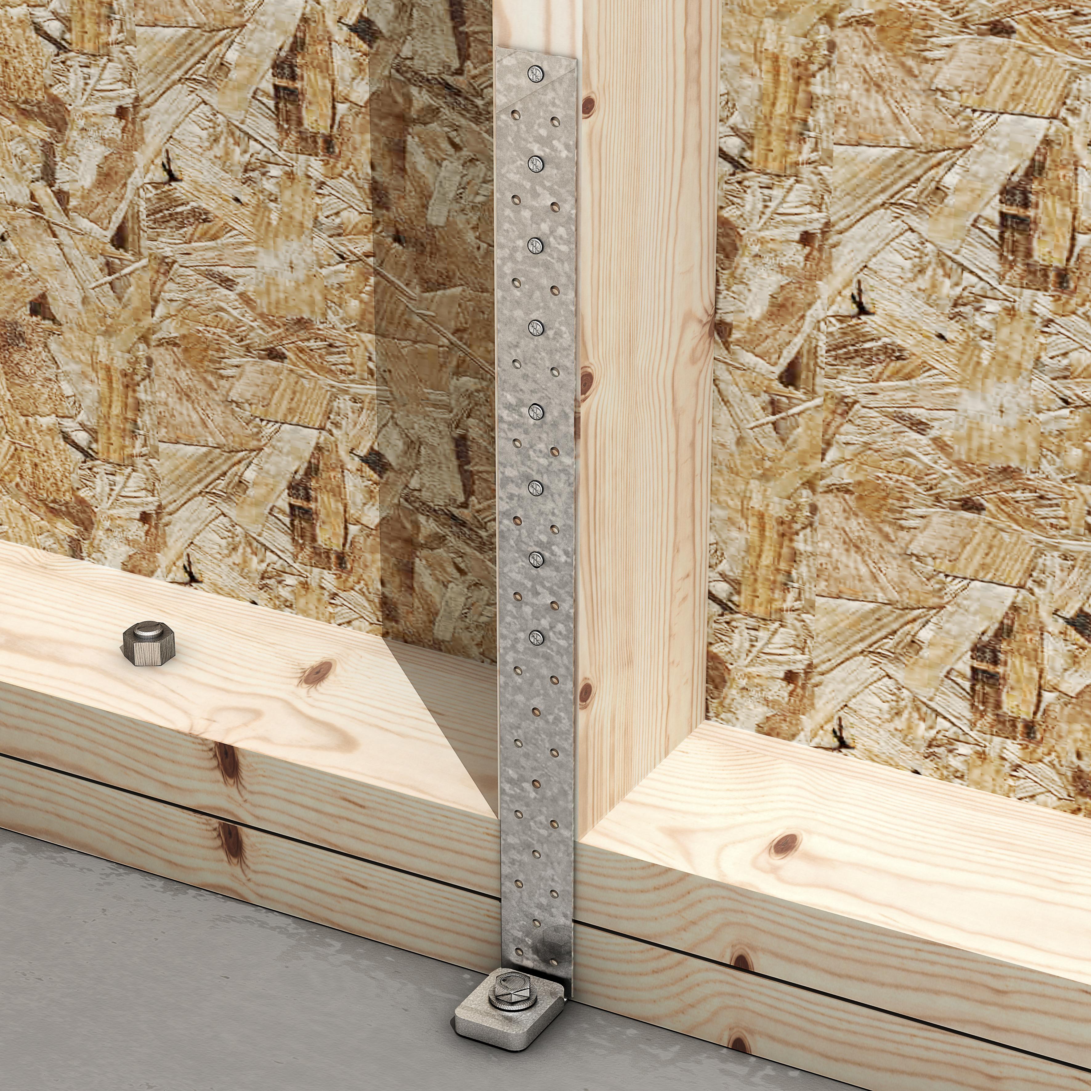 ancrage pour montant d 39 ossature 1 rondelle dimensions au choix connecteurs charpente. Black Bedroom Furniture Sets. Home Design Ideas
