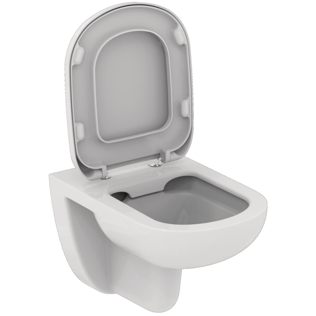 ensemble cuvette wc suspendue kheops sans bride abattant frein de chute ideal standard. Black Bedroom Furniture Sets. Home Design Ideas