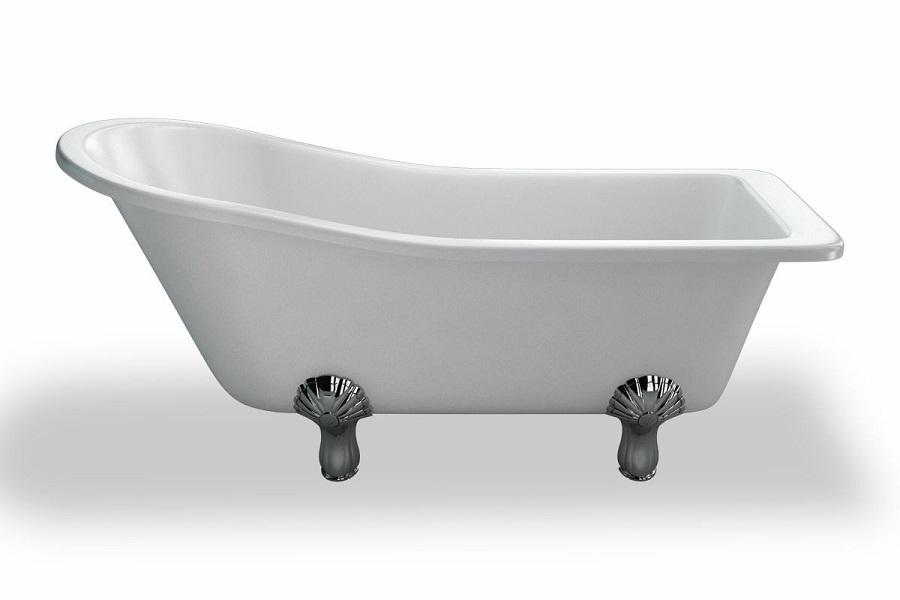 Baignoire sur pieds slipper 1700 lazer baignoire acrylique baignoire sanitaire distriartisan for Baignoire sur pieds