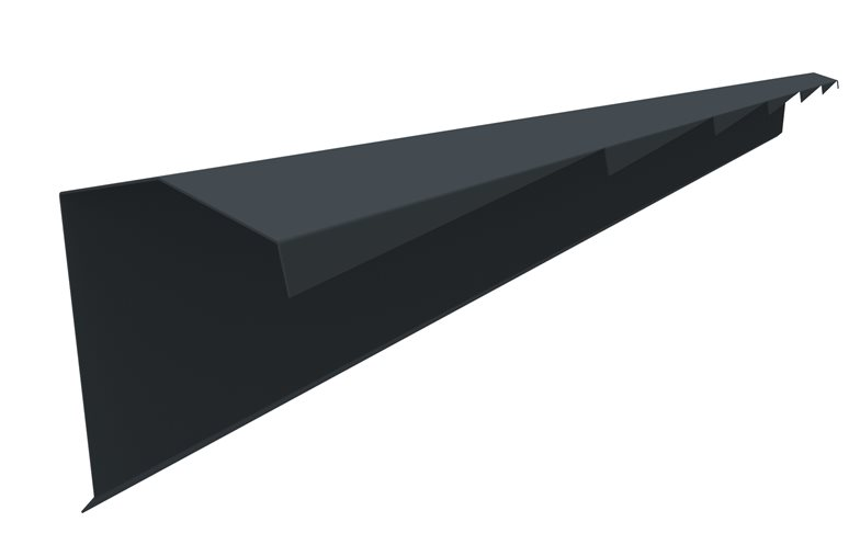 bande de rive dent e pose droite pour tuiles plastimetal. Black Bedroom Furniture Sets. Home Design Ideas