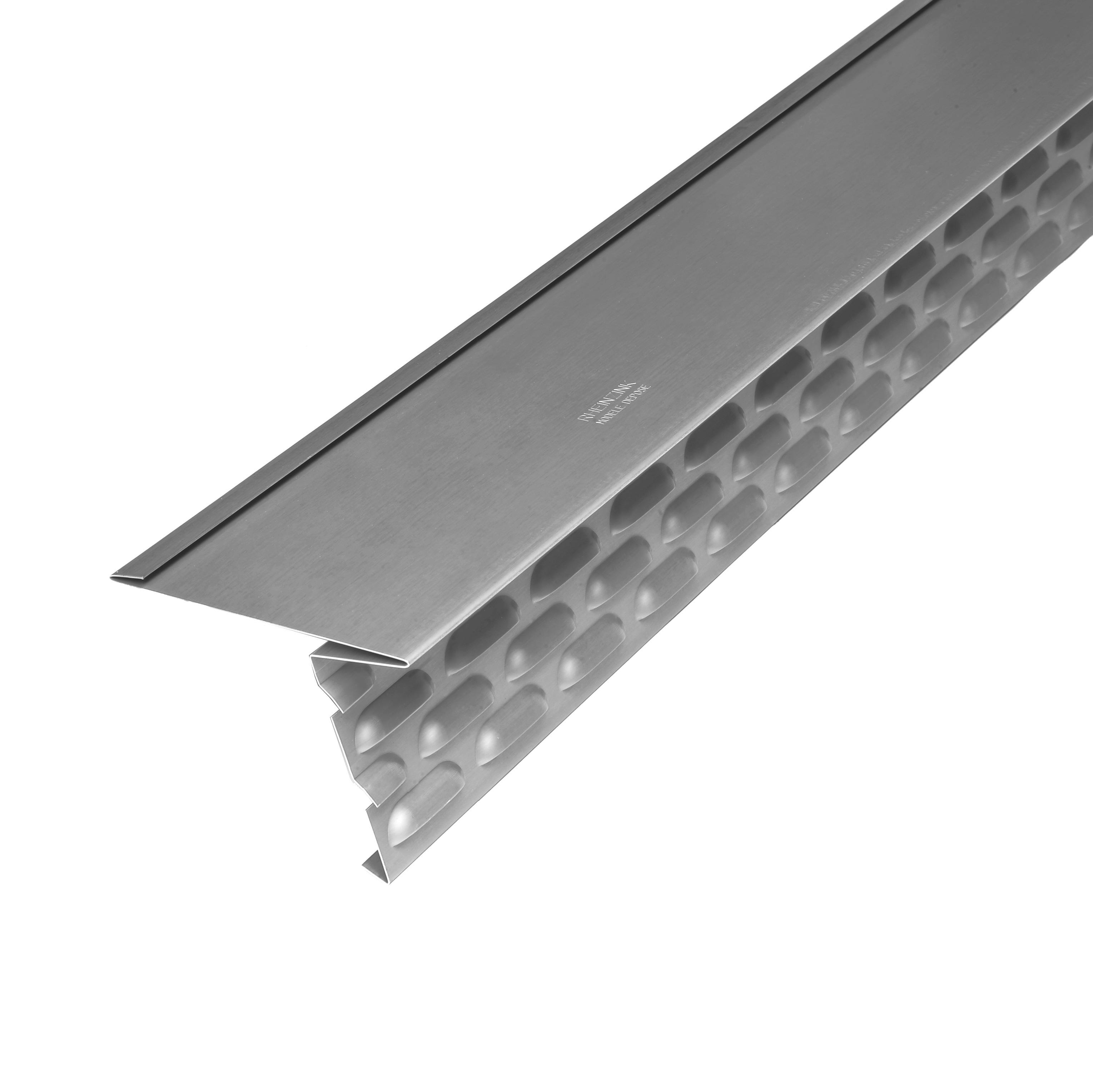 bandes d 39 gout ventil es en zinc longueur 2m d veloppement