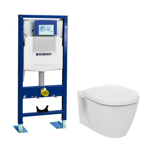 Ensemble b ti support geberit duofix autoportant cuvette - Wc suspendu geberit prix ...