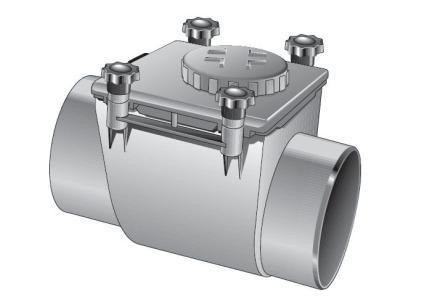 Clapet anti retour accessoires d 39 vacuation tubes et raccords pvc t - Plomberie evacuation pvc ...