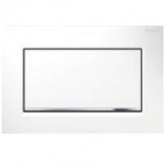 plaque de commande sigma 30 geberit blanc chrom brillant plaques de d clenchement wc wc. Black Bedroom Furniture Sets. Home Design Ideas
