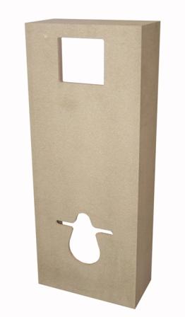 Meuble d 39 habillage wc siamp decofast couleur au choix for Meuble sanitaire wc
