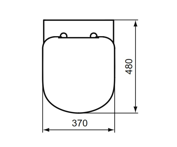 cuvette wc suspendue kheops courte ideal standard. Black Bedroom Furniture Sets. Home Design Ideas