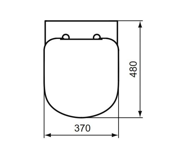 cuvette wc suspendue kheops courte ideal standard cuvettes wc wc sanitaire distriartisan. Black Bedroom Furniture Sets. Home Design Ideas