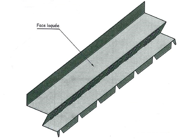 fa tage contre mur ventil e pour t les bac acier joris ide couleur au choix t les bac acier. Black Bedroom Furniture Sets. Home Design Ideas