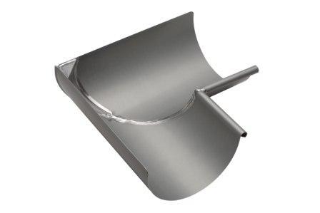 Equerre soud e pour goutti re demi ronde en zinc for Gouttiere demi ronde zinc