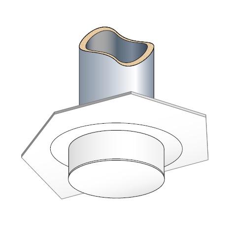 finition plafond ronde blanc pour conduit inox galva en. Black Bedroom Furniture Sets. Home Design Ideas