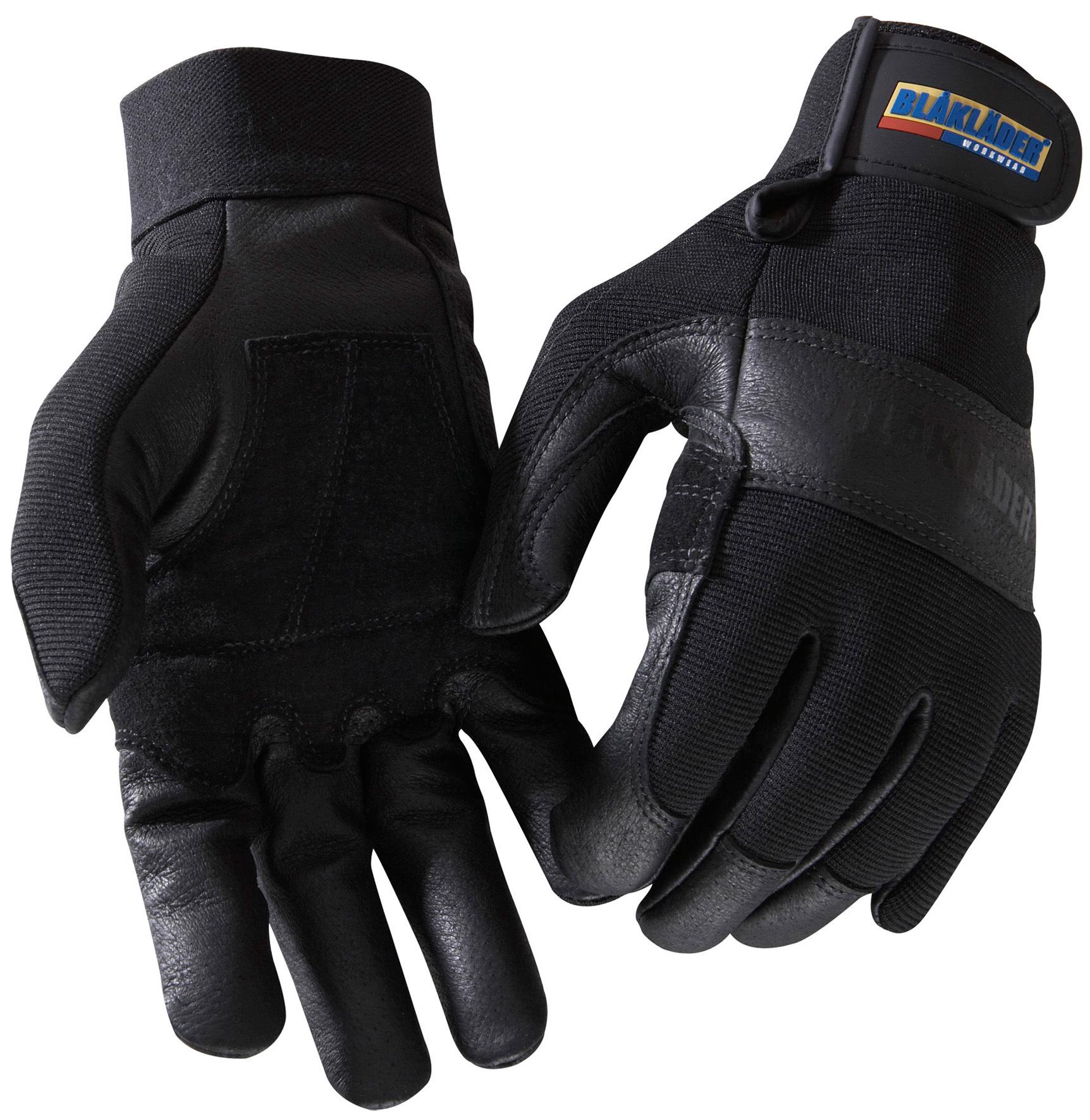 gants de travail noir cuir gants de protection v tements et epi distriartisan. Black Bedroom Furniture Sets. Home Design Ideas
