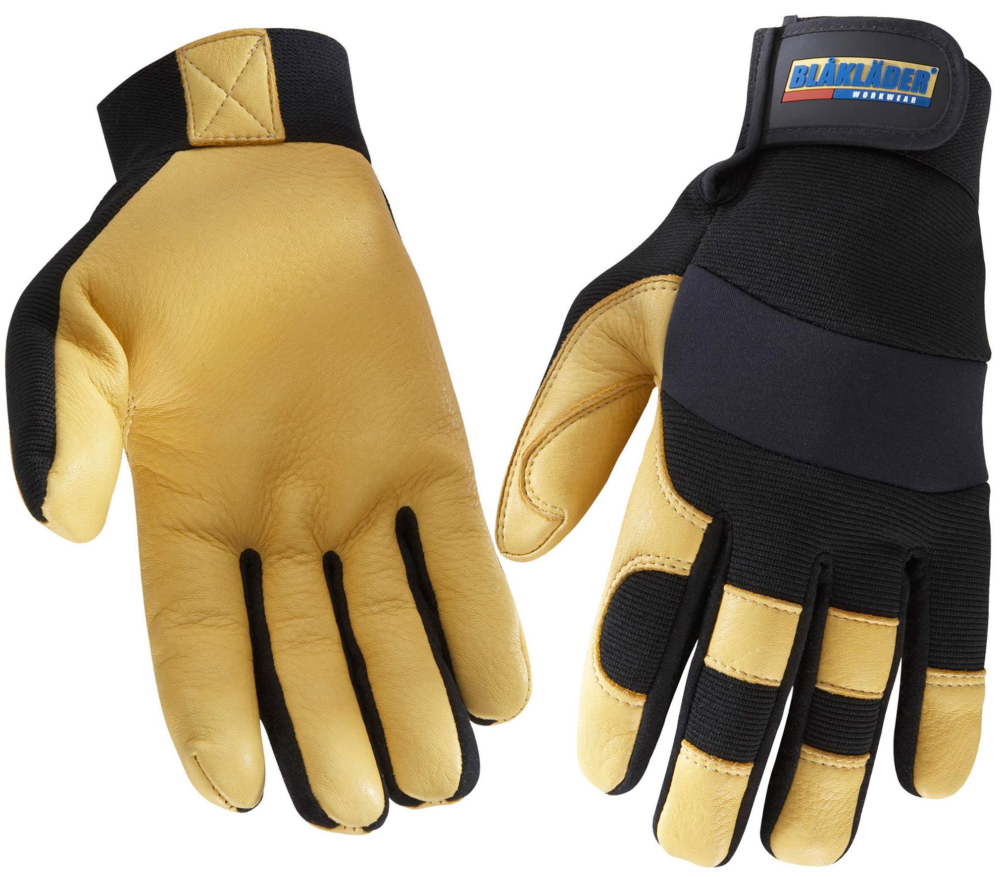gants de travail noir jaune gants de protection v tements et epi distriartisan. Black Bedroom Furniture Sets. Home Design Ideas