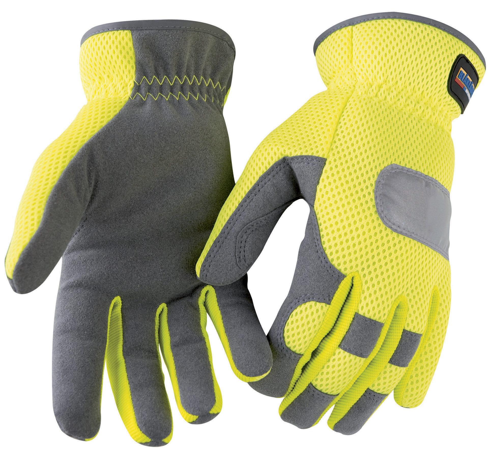 gants haute visibilit jaune gris gants de protection v tements et epi distriartisan. Black Bedroom Furniture Sets. Home Design Ideas