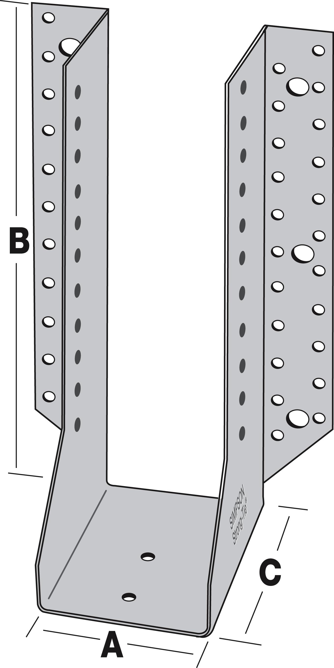 grands sabots ailes ext rieures dimensions au choix sabots de charpente connexions pour. Black Bedroom Furniture Sets. Home Design Ideas