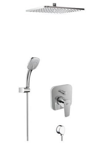 kit mod le encastrer avec set de douche et pomme de t te kheops ideal standard ensemble de. Black Bedroom Furniture Sets. Home Design Ideas