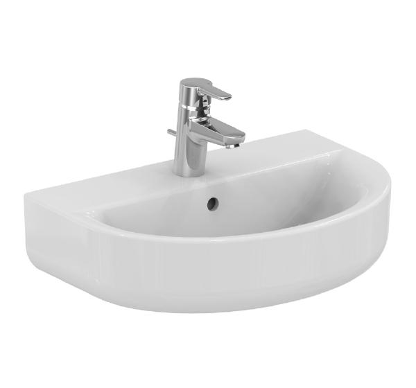 Lavabo arc connect ideal standard lavabos lavabos et for Largeur lavabo standard