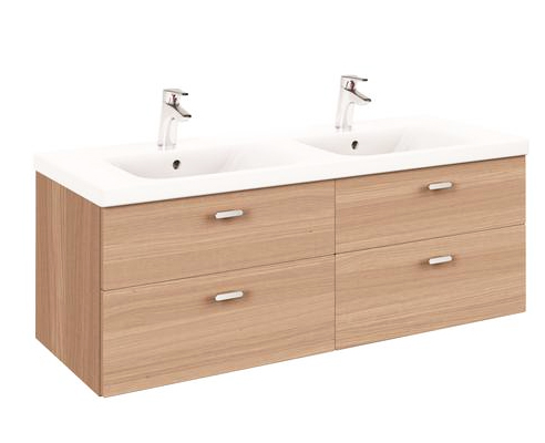 Pack meuble salle de bains connect double vasque for Ideal meuble catalogue