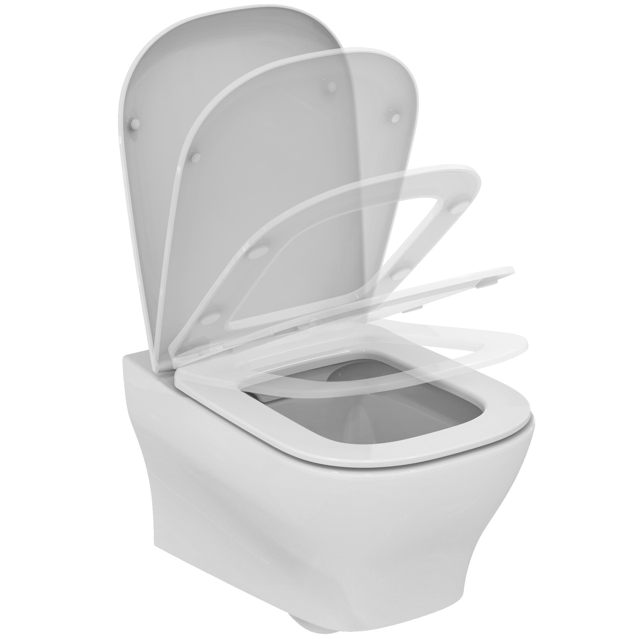 ensemble cuvette wc suspendue softmood sans bride abattant ultra fin frein de chute ideal. Black Bedroom Furniture Sets. Home Design Ideas