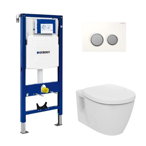 Pack wc suspendu geberit ideal standard en applique 3 en 1 pack wc suspendu wc sanitaire - Wc suspendu ideal standard ...