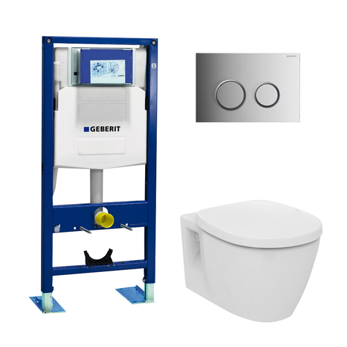 Pack wc suspendu geberit ideal standard autoportant 3 en 1 pack wc suspendu - Pack toilette suspendu ...