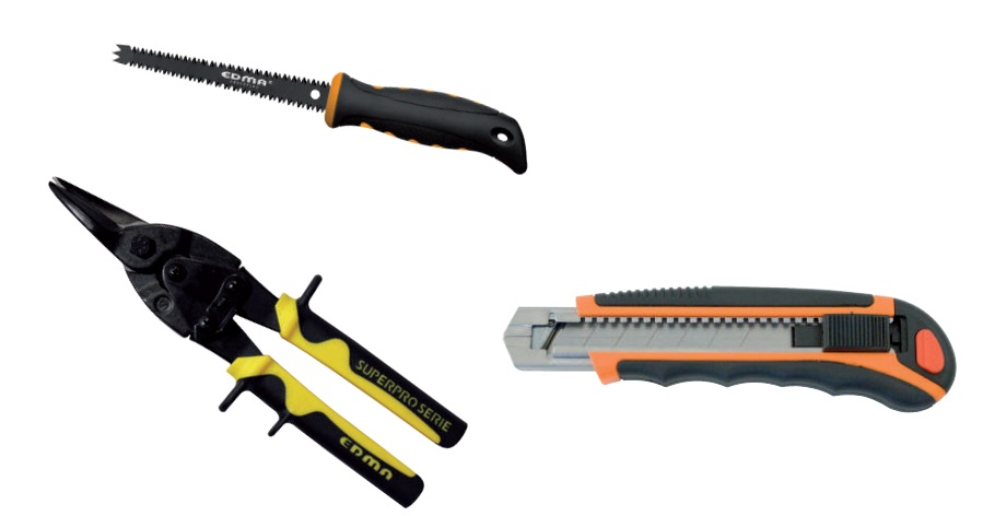 pack d coupe plaquiste 3 outils outils de coupe. Black Bedroom Furniture Sets. Home Design Ideas