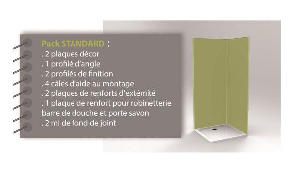 pack standard finition murale decofast lazer coloris au choix accessoire douche italienne. Black Bedroom Furniture Sets. Home Design Ideas