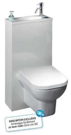 pack wc suspendu trio complet gain de place avec abattant. Black Bedroom Furniture Sets. Home Design Ideas