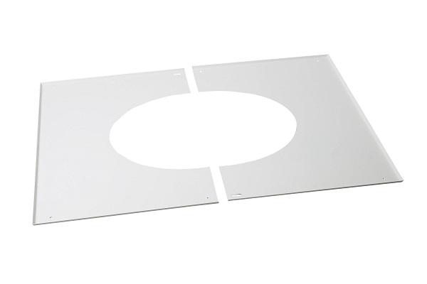 plaque de propret blanc pour plaque pdse rampant pgi poujoulat diam tre et pente au choix. Black Bedroom Furniture Sets. Home Design Ideas