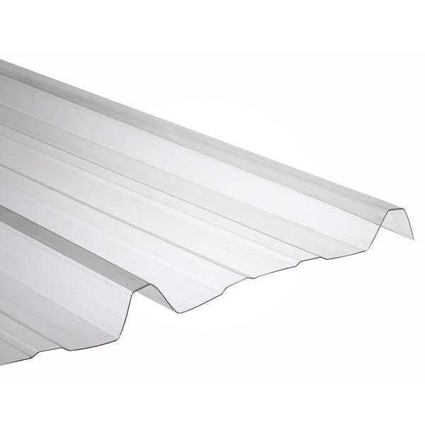 plaque ondul e transparente polycarbonate 2 x 1 10 m ondes trap ze gr ca 76 18 20 pi ces. Black Bedroom Furniture Sets. Home Design Ideas