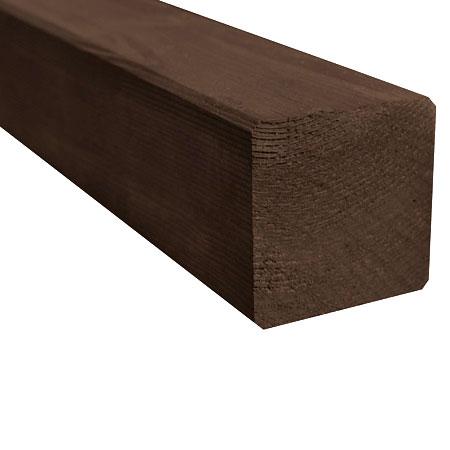 Poteau en bois trait marron autoclave dimensions et for Bois de charpente traite